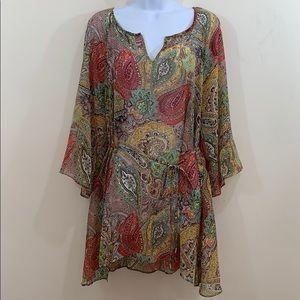 Jessica Simpson Maternity Semi Sheer Shirt Size L